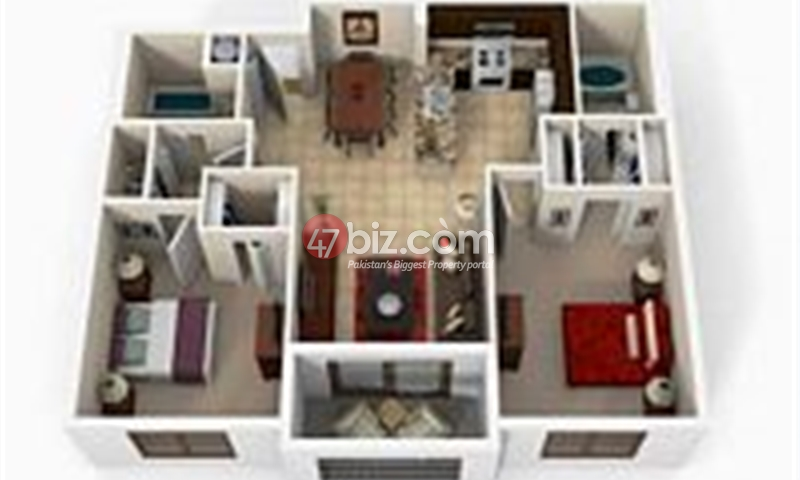 Two-Bedroom-Cube-Apartment-1164-Squre-Feet-Bahria-Enclave-Islamabad-2