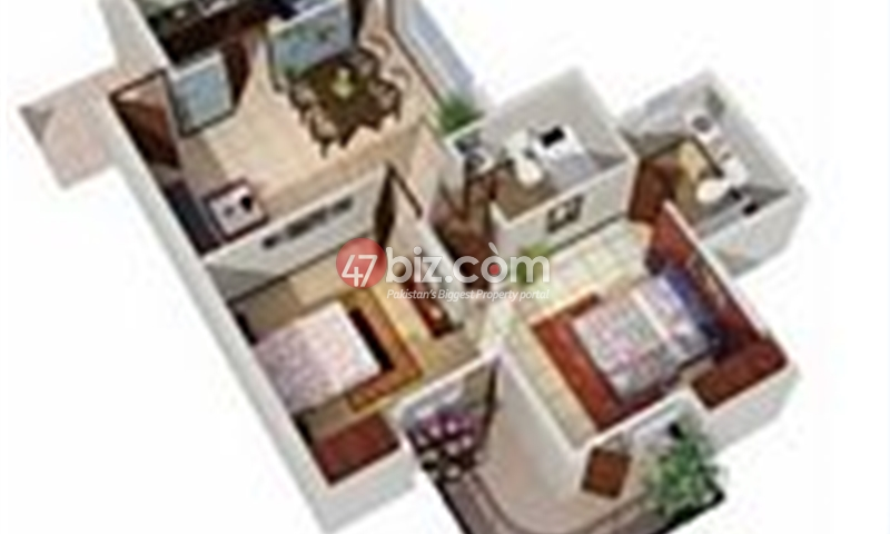 Two-Bedroom-Cube-Apartment-1164-Squre-Feet-Bahria-Enclave-Islamabad-3
